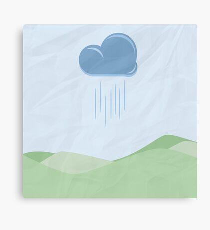 Raindrops and Green Hills Canvas Print
