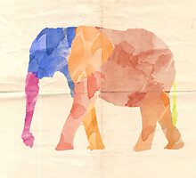 Watercolor Elephant by ASoftNarwhal