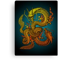 Twin dragons Canvas Print