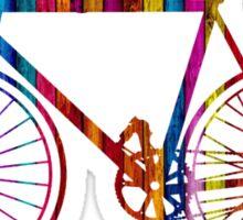 Rainbow Bike Sticker