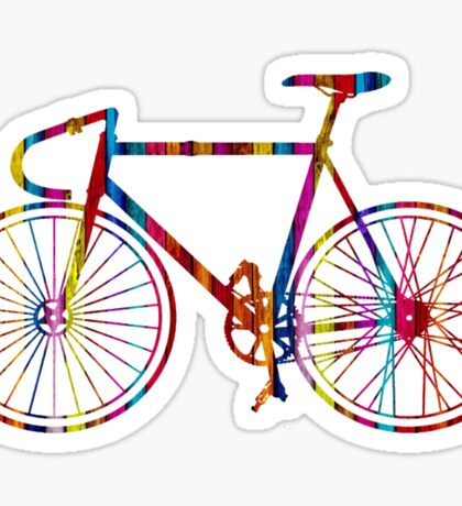 Rainbow Bike Sticker