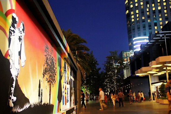 Southbank Tribute Graffiti Wall Crown Entry (melb) by Niamh Scally