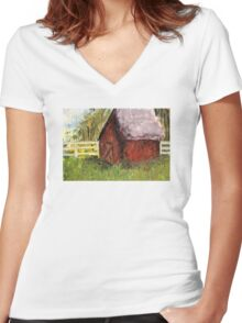 Barn Women's Fitted V-Neck T-Shirt