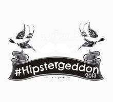 I Survived Hipstergeddon - best on black Baby Tee