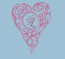 Lavender Love Kanji Baby Tee