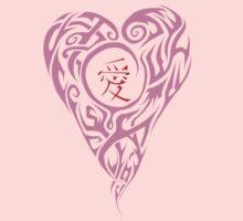 Lavender Love Kanji Kids Tee