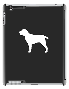 Spinone Italiano Silhouette (White) by Jenn Inashvili