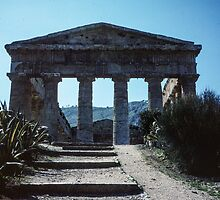 Segesta from its approach Sicily 198403250058m by Fred Mitchell
