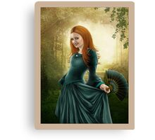 Lady with Fan -revision Canvas Print