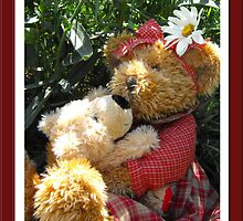 """Teddy Bear"" Hugs by Jan  Tribe"