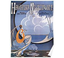 HAWAIIAN NIGHTINGALE (vintage illustration) Poster