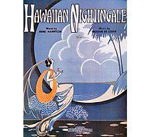 HAWAIIAN NIGHTINGALE (vintage illustration) Photographic Print