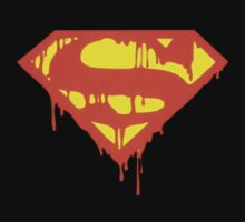 Super-man Bleeding Logo by JaySteel78