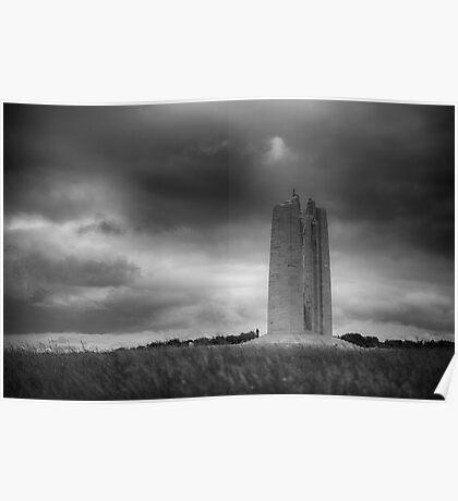 Canadian National War Memorial - Vimy Ridge Poster
