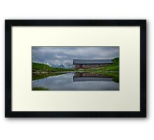 High Pasture Farmhouse Reflected Framed Print