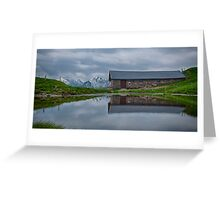 High Pasture Farmhouse Reflected Greeting Card