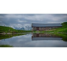 High Pasture Farmhouse Reflected Photographic Print