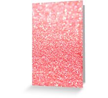 coral pink Greeting Card