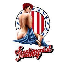 Sentimental Journey - Aircraft Art Pin-Up Girl Photographic Print