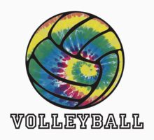 Tie Dyed Volleyball by shakeoutfitters