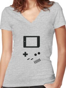Classic Gamer Women's Fitted V-Neck T-Shirt