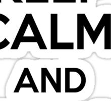 Keep Calm and Bump, Set, Spike Sticker