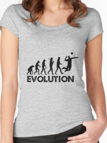 Evolution of a Volleyball Player Women's Fitted Scoop T-Shirt