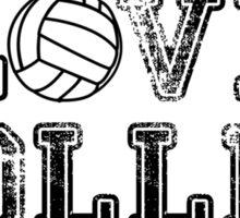 Peace, Love, Volleyball Sticker