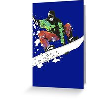 Snow Surfer Greeting Card