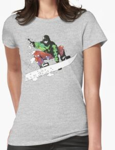 Snow Surfer Womens Fitted T-Shirt