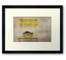 « Picking Cherries at the Cottage » Framed Print