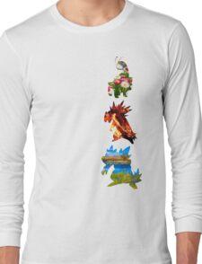 The evolved starters (johto) Long Sleeve T-Shirt
