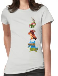 The evolved starters (johto) Womens Fitted T-Shirt
