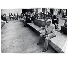 Sitting Man Forrest Place Perth Poster