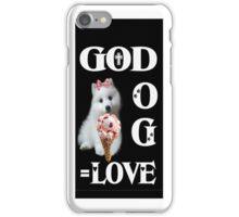 。◕‿◕。GOD+DOG = LOVE IPHONE CASE。◕‿◕。 iPhone Case/Skin