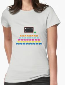 Retro T-Shirt - Space Invaders  Womens Fitted T-Shirt