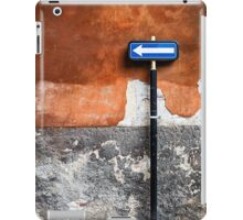 traffic sign - to the left! iPad Case/Skin
