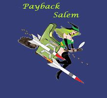 Payback Salem,  Attack of the Green Witch Womens Fitted T-Shirt