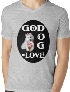❀◕‿◕❀GOD +DOG=LOVE ..TEE SHIRT ❀◕‿◕❀ Mens V-Neck T-Shirt