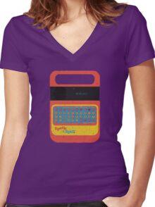 Vintage Look Speak & Spell Retro Geek Gadget Women's Fitted V-Neck T-Shirt