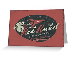 Red Rocket (Distressed) Greeting Card