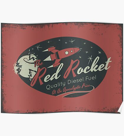 Red Rocket (Distressed) Poster