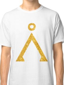 Earth symbol Golden style Classic T-Shirt