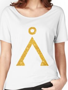 Earth symbol Golden style Women's Relaxed Fit T-Shirt