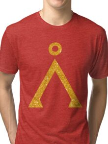 Earth symbol Golden style Tri-blend T-Shirt