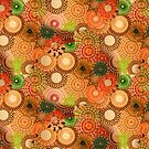 Tiled Autumnal Design by RachelEDesigns