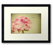 """Textured Flower"" Framed Print"