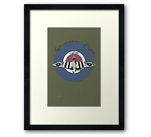 Vintage Look Fighter Plane Supermarine Spitfire Framed Print