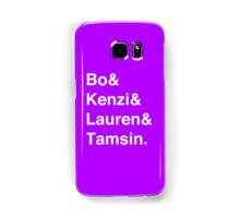 Bo & Kenzi & Lauren & Tamsin. (White Text) Samsung Galaxy Case/Skin
