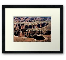 Canyonlands Cutouts Framed Print